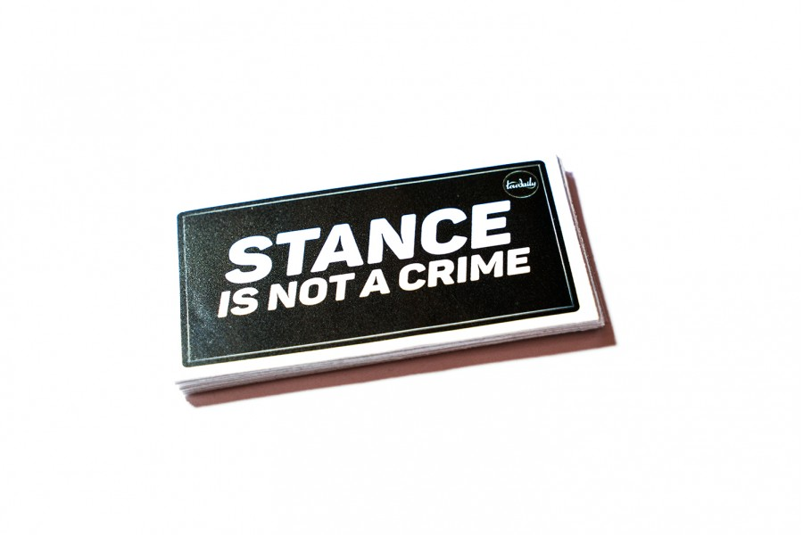Наклейка Stance is not a Crime